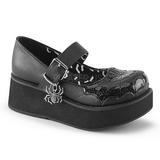 Musta 6 cm DEMONIA SPRITE-05 gootti platform kengät