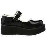Musta 6 cm SPRITE-01 lolita gootti kengät