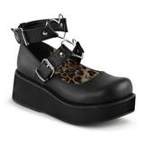 Musta 6 cm SPRITE-02 lolita kengät gootti platform kengät paksut pohjat
