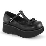 Musta 6 cm SPRITE-03 lolita kengät gootti platform kengät paksut pohjat