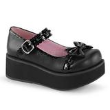 Musta 6 cm SPRITE-04 lolita kengät gootti platform kengät paksut pohjat