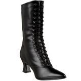 Musta 7 cm VICTORIAN-120 Naisten Nauhalliset Nilkkurit
