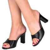 Musta 8,5 cm Fabulicious ROMANCE-301-2 Korkeakorkoiset Muulit Kengät
