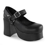 Musta 9,5 cm ABBEY-02 lolita kengät gootti platform kengät paksut pohjat