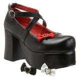 Musta 9,5 cm ABBEY-03 lolita kengät gootti platform kengät paksut pohjat