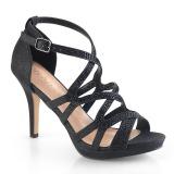 Musta 9,5 cm DAPHNE-42 sandaalit piikkikorko
