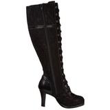 Musta 9,5 cm GLAM-240 naisten saappaat korkeat korko