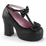 Musta 9,5 cm GOTHIKA-04 lolita kengät gootti punk platform kengät paksut pohjat