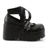 Musta 9 cm DEMONIA SCENE-20 gootti platform kengät