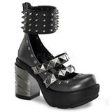 Musta 9 cm SINISTER-62 lolita kengät gootti platform kengät paksut pohjat