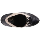 Musta Beige 11,5 cm retro vintage CUTIEPIE-14 Oxford Naisten kengät avokkaat