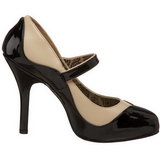 Musta Beige 11,5 cm rockabilly TEMPT-07 naisten kengät korkeat korko