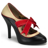 Musta Beige 11,5 cm rockabilly TEMPT-27 naisten kengät korkeat korko