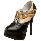 Musta Beige 14,5 cm Burlesque TEEZE-24 naisten kengät korkeat korko