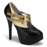 Musta Beige 14,5 cm TEEZE-24 naisten kengät korkeat korko