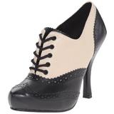 Musta Beiget 11,5 cm retro vintage CUTIEPIE-14 Oxford Naisten kengät avokkaat