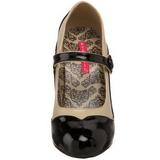 Musta Beiget 11,5 cm rockabilly TEMPT-07 naisten kengät korkeat korko