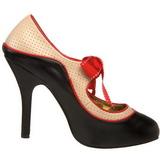 Musta Beiget 11,5 cm rockabilly TEMPT-27 naisten kengät korkeat korko