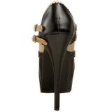 Musta Beiget 14,5 cm Burlesque TEEZE-24 naisten kengät korkeat korko