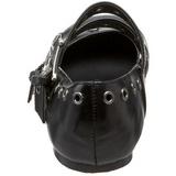 Musta DAISY-03 gootti ballerina kengät matalat