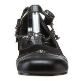 Musta DAISY-07 gootti ballerina kengät matalat