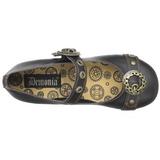 Musta DAISY-09 gootti ballerina kengät matalat