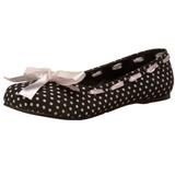 Musta DAISY-20 gootti ballerina kengät matalat
