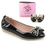Musta IVY-09 ballerinat matalat kengät helmi