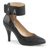 Musta Keinonahka 10 cm DREAM-432 suuret koot avokkaat kengät
