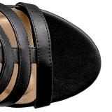 Musta Keinonahka 10 cm DREAM-438 suuret koot nilkkurit naisten
