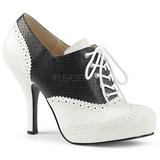 Musta Keinonahka 11,5 cm PINUP-07 suuret koot oxford kengät