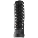 Musta Keinonahka 12,5 cm EVE-106 suuret koot nilkkurit naisten