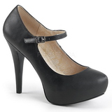 Musta Keinonahka 13,5 cm CHLOE-02 suuret koot avokkaat kengät