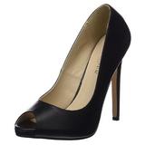 Musta Keinonahka 13 cm SEXY-42 klassiset avokkaat kengät naisten