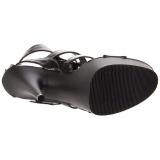 Musta Keinonahka 15 cm DELIGHT-658 korokepohja pleaser kengät