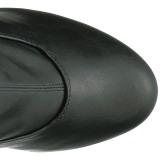 Musta Keinonahka 15 cm KISS-3000 reisisaappaat korkokengät