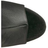 Musta Keinonahka 18 cm ADORE-3019 reisisaappaat korkokengät