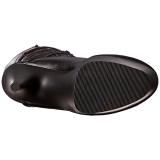 Musta Keinonahka 18 cm ADORE-3028 korokepohja pitkät saappaat