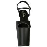 Musta Keinonahka 20 cm Pleaser XTREME-809 Korkosandaalit Platform