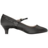 Musta Keinonahka 5 cm FAB-425 suuret koot avokkaat kengät