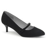 Musta Keinonahka 6,5 cm KITTEN-03 suuret koot avokkaat kengät