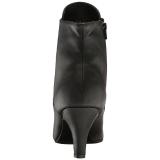 Musta Keinonahka 7,5 cm DIVINE-1020 suuret koot nilkkurit naisten