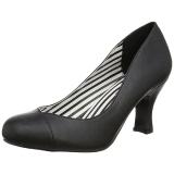 Musta Keinonahka 7,5 cm JENNA-01 suuret koot avokkaat kengät