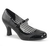 Musta Keinonahka 7,5 cm JENNA-06 suuret koot avokkaat kengät