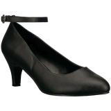 Musta Keinonahka 8 cm DIVINE-431W Naisten kengät avokkaat