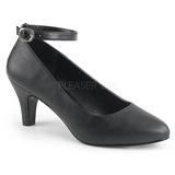 Musta Keinonahka 8 cm DIVINE-431W Pumps Naisten Kengät