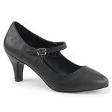 Musta Keinonahka 8 cm DIVINE-440 Naisten kengät avokkaat
