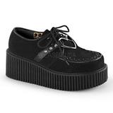 Musta Keinonahka CREEPER-206 Platform Creepers Kengät Naisten