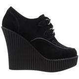 Musta Keinonahka CREEPER-302 creepers kengät kiilakorot