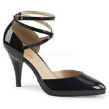 Musta Kiiltonahka 10 cm DREAM-408 suuret koot avokkaat kengät
